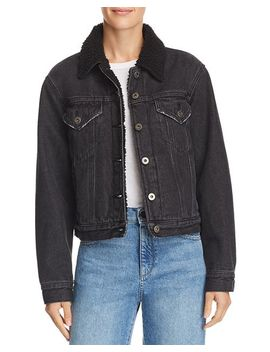 Tori Sherpa Fleece Lined Denim Jacket by Pistola