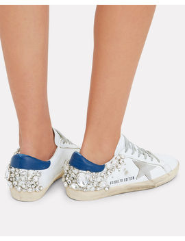 Superstar Crystal Embellished Low Top Sneakers by Golden Goose