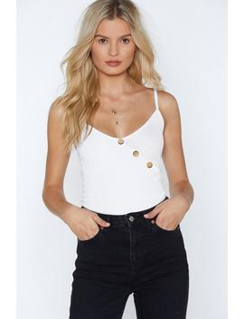 It Wood Be You Button Cami Top by Nasty Gal