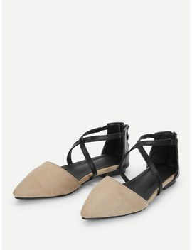 Criss Cross Straps Flats by Sheinside