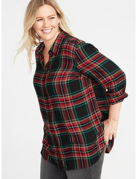 Classic Plus Size No Peek Drapey Twill Tunic by Old Navy