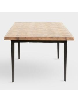 Reclaimed Pine And Metal Anders Dining Table by World Market