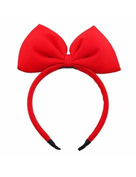 Bow Headband Red Bowknot Headband Big Bow Hair Hoop Cute Girls Kids Party Decoration Headdress Cosplay Costume Headwear Halloween Makeup Handmade Headpiece Hair... by Keklle