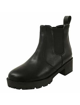Latasa Women's Chunky Heel Ankle Chelsea Boots by Latasa