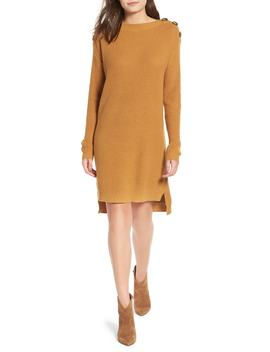 Button Shoulder Sweater Dress by Bp.