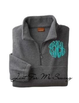 Monogrammed Fleece Pullover Price Includes Monogram by Etsy
