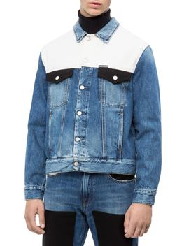 Colorblocked Trucker Jacket by Calvin Klein Jeans
