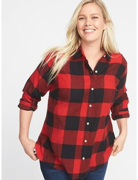 Classic Plaid No Peek Plus Size Twill Shirt by Old Navy