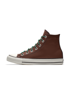 Converse Custom Chuck Taylor All Star Metallic Leather High Top by Nike