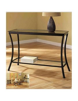 Mendocino Console Table, Metal & Glass by Z Line Designs