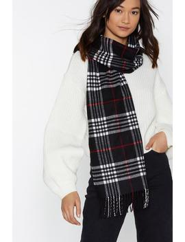 Black Tartan Scarf by Nasty Gal