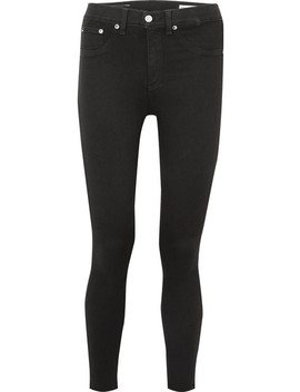cropped-high-rise-skinny-jeans by rag-&-bone