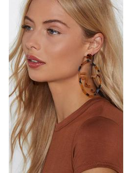 In Your Face Tortoiseshell Earrings by Nasty Gal