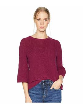 Cotton Knits 3/4 Sleeve Swing Sweater by Michael Stars