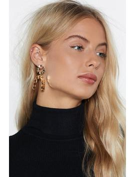 You're Going Down Hammered Earrings by Nasty Gal