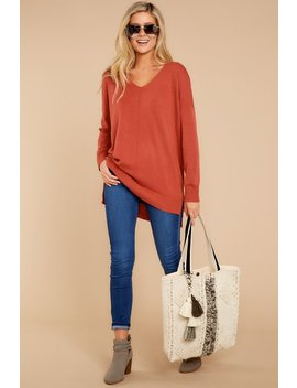 Wind Down Rust Sweater by So Soft Collection