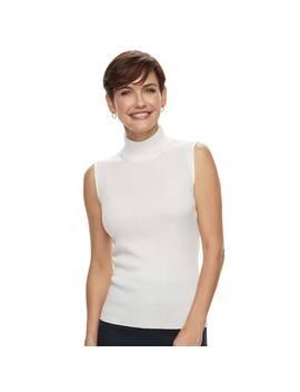 Women's Dana Buchman Mockneck Sleeveless Top by Kohl's
