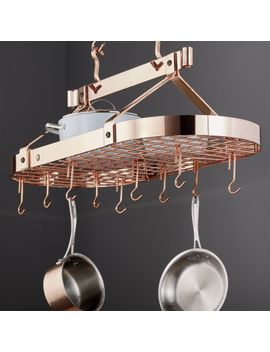 Enclume ® Oval Copper Ceiling Pot Rack by Crate&Barrel