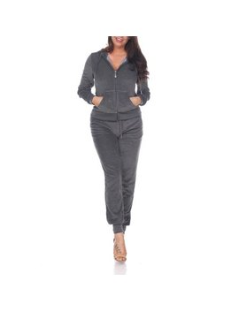 Women's Fitted Velour 2 Piece Set by White Mark