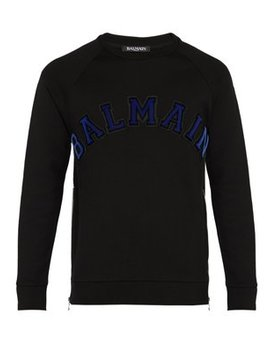 Logo Cotton Sweatshirt by Balmain