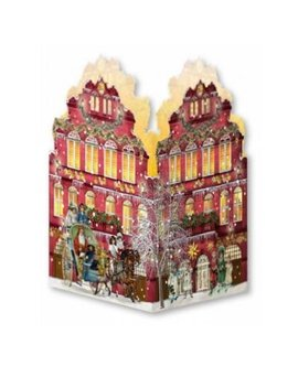 Deluxe Mini Advent Calendar   Nostalgic House Tealight Lantern   Red House by Coppenrath Verlag