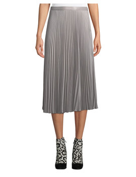 Annina Accordion Pleated Midi Skirt by Club Monaco
