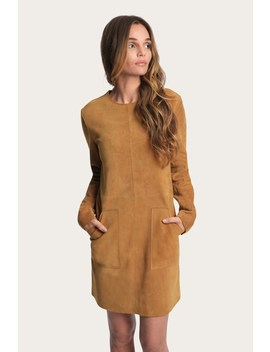 Melissa Suede Pocket Dress by Frye