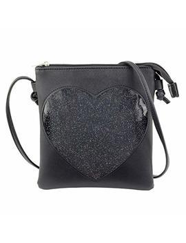 Steamed Bun Ita Bag Heart Crossbody Bags For Women Girls Small Clear Phone Wallet Shoulder Purse With Zipper by Steamed Bun
