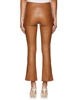 Leather Flared Leg Pants by Area