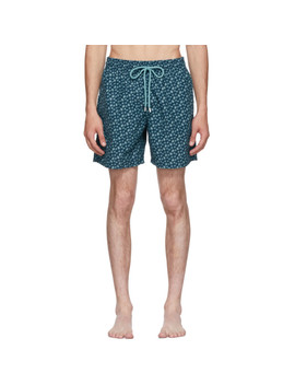 Blue Moorea Micro 'rondes Des Tortues' Swim Shorts by Vilebrequin