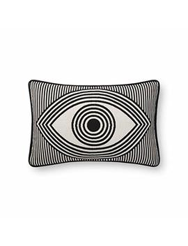 Now House By Jonathan Adler Wink Jacquard Pillow, Black And White by Now House By Jonathan Adler