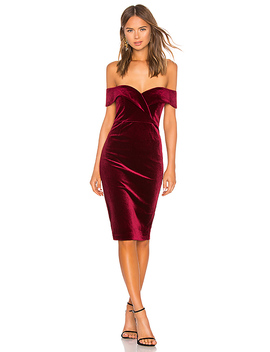 Bella Velvet Dress by Bardot