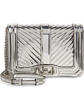 Small Love Quilted Metallic Crossbody by Rebecca Minkoff