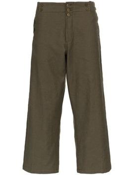 Wide Leg Button Detail Trousers by Ann Demeulemeester