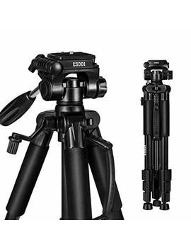 Esddi Camera Tripod, 55'' Professional Dslr Aluminum Camera Tripod For Canon, Nikon, Sony, Samsung, Olympus, Panasonic & Pentax + E Cost Microfiber by Esddi