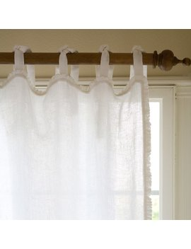 Taylor Linens Ruffle Solid Sheer Tab Top Single Curtain Panel & Reviews by Taylor Linens