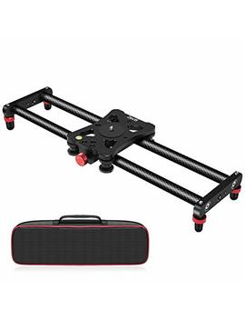 """Zecti 15.7"""" Portable Carbon Fiber Camera Slider Dolly Track With 4 Roller Bearing For Video Movie Photography Making Stabilizing Nikon Canon Pentax Sony Cameras 11.02lbs Loading by Zecti"""