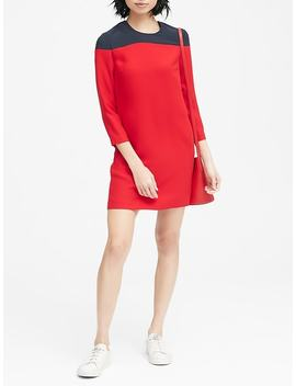 Color Blocked Shift Dress by Banana Repbulic