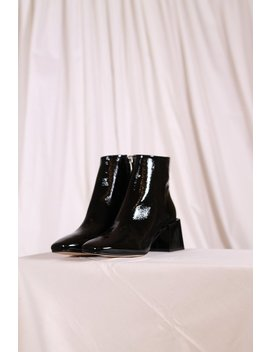 Loq Lazaro Crinkle Patent Boots   Black by Garmentory