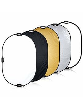 "Neewer 5 In 1 Portable Round 43''inch/110cm Multi Camera Lighting Reflector/Diffuser Kit With Grip And Carrying Case For Photpgraphy (43"" Round) by Neewer"