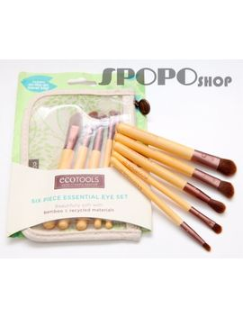 Eco Tools 6 Pieces Bamboo Makeup Eye Brush Set (Earth Friendly) 100 Percents Authentic by Eco Tools