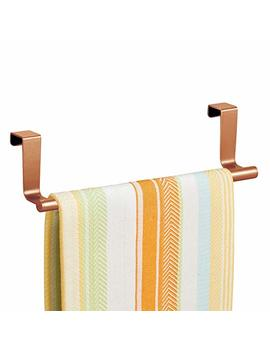 "Inter Design Forma Over The Cabinet Kitchen Dish Towel Bar Holder   9"", Copper by Inter Design"