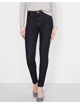 High Rise Skinny 360 Stretch Dark Blue Wash Jeans by Rw & Co