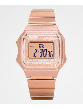 Casio B650 Wc 5 Avt Vintage Rose Gold Digital Watch by G Shock
