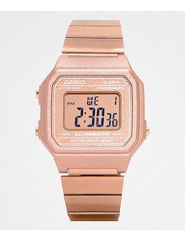 Casio B650 Wc 5 Avt Vintage Rose Gold Digital Watch by G Shock