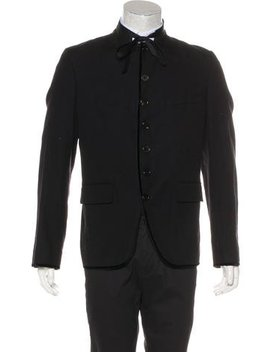 Ann Demeulemeester Silk Blend Button Up Blazer by Ann Demeulemeester