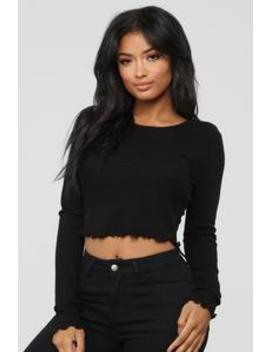 The Classic Marrow Top   Black by Fashion Nova