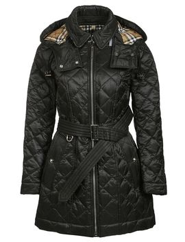 Burberry Quilted Detachable Hood Coat by Burberry