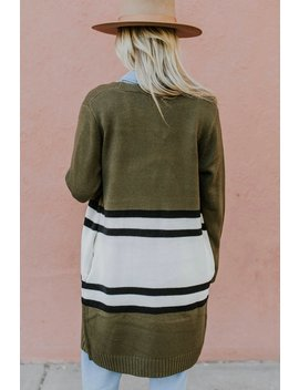 Marlow Stripe Cardigan by Roolee