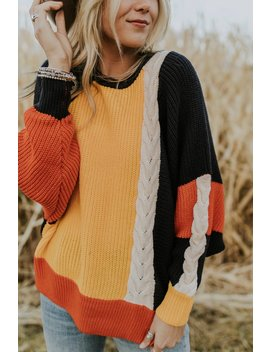 Crazy For You Colorblock Sweater by Roolee